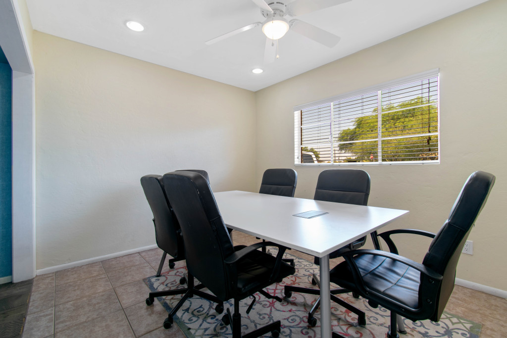 Conference room inside Coworking on 15th Ave in Phoenix